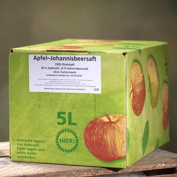 Apfel-Johannisbeer Saft 5l