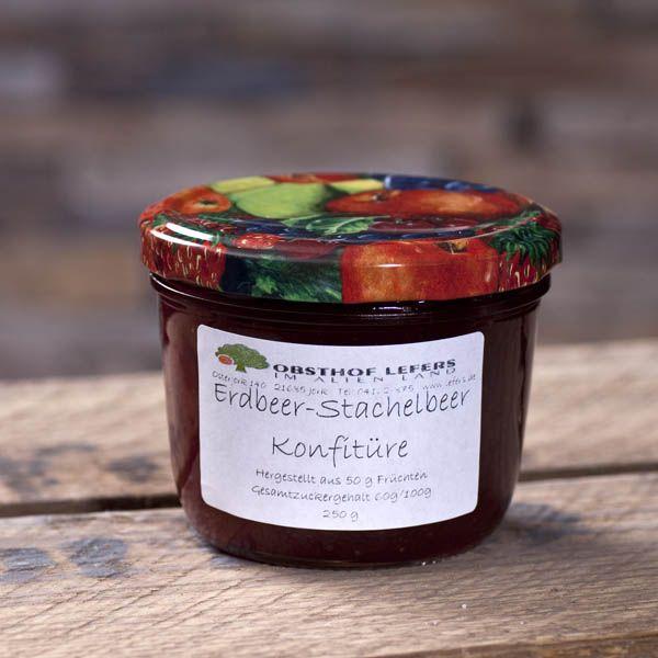 Erdbeer-Stachelbeer-Konfitüre