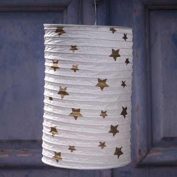 LED Laterne mit Sternen
